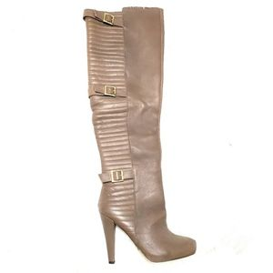 Matiko | Leather Over The Knee Heeled Boots